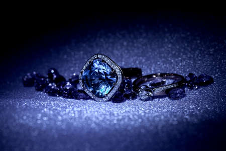 Elegant jewelry ring with jewel stone photo