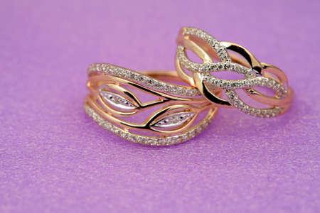 jewelle: Elegant jewelry ring with jewel stone brilliants Stock Photo