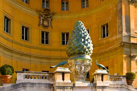 pontiff: Internal court yard of Vatican, Rome, Italy. State of the City of Vatican