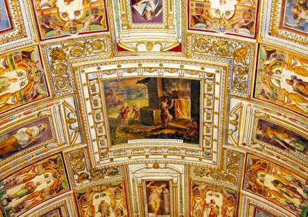 italian fresco: Art of Italy in museums of Vatican, a fresco