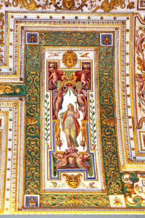 Art of Italy in museums of Vatican, a fresco