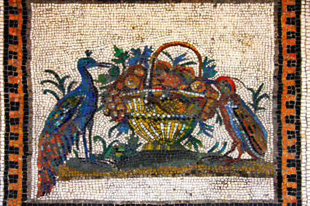 Art of Italy in museums of Vatican,  a  Mosaic from ornamental stones