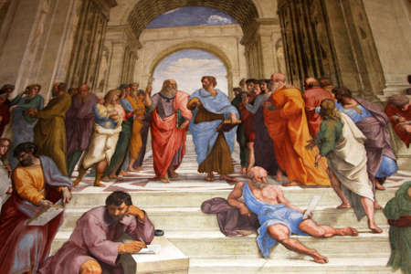 Art of Italy in museums of Vatican, a fresco of Raphael , stanza