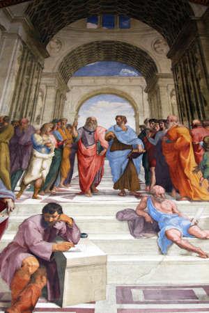 roma antigua: Arte de Italia en los museos del Vaticano, un fresco de Rafael, estrofa