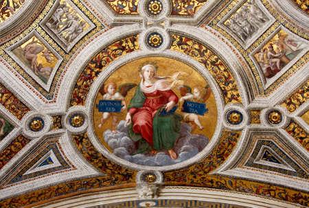 Art of Italy in museums of Vatican, a fresco of Raphael , stanza Redakční