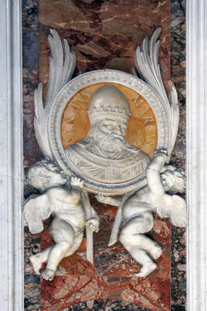 pontiff: Basilica of St. Peter, Vatican, Rome, Italy. Angels