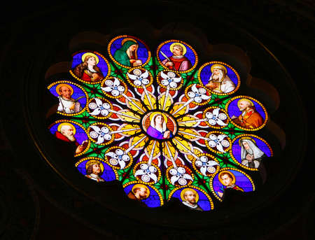 Stained glass in Basilica of St. Peter, Vatican, Rome, Italy . Stock Photo - 11905557