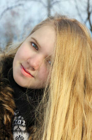 Portrait of the  beautiful girl in winter season Stock Photo - 11905541