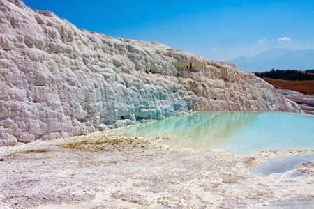 Travertine pools and terraces, Pamukkale, Turkey photo