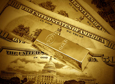 The money dollars and gold bullion
