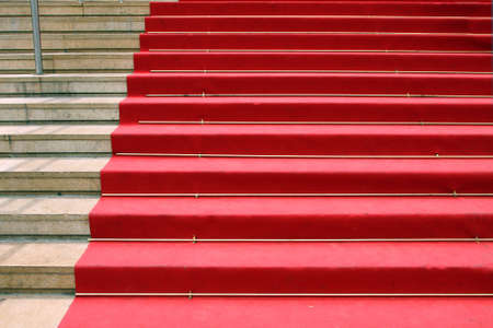 CANNES, FRANCE - June 13   Red carpet, Palace of popular cinema festival, located on the famous  La Croisette  Boulevard in Cannes, French Riviera, France, Europe; June 13, 2010