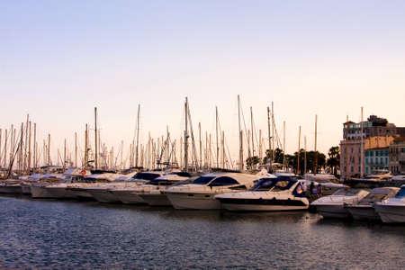 azure coast: Azure coast of france, luxury yachts in Cannes port