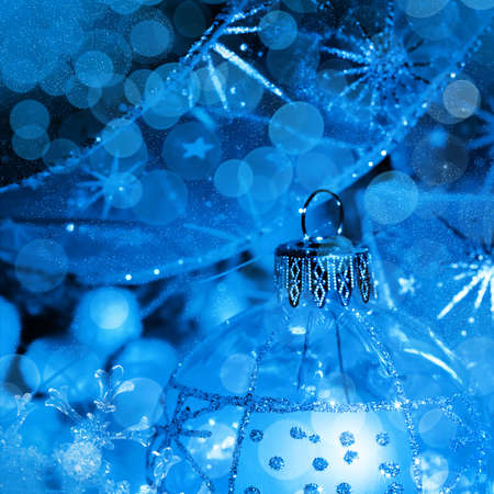 Christmas decoration in neon light, background for holidays card and cover photo