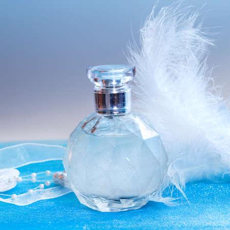 perfume bottle: Bottle of perfume close-up