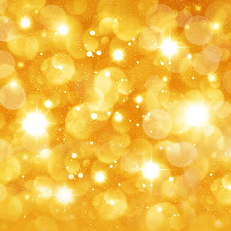 Christmas golden background for congratulation cards and design Stock Photo - 16690643