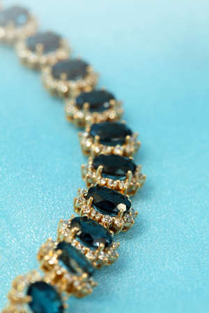 Jewelry accessories - bracelet with sapphire and brilliants photo