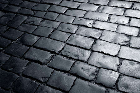 cobble: Cobbly way, road covered with stones
