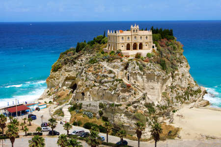 The south Italy, area Calabria, church of Tropea city