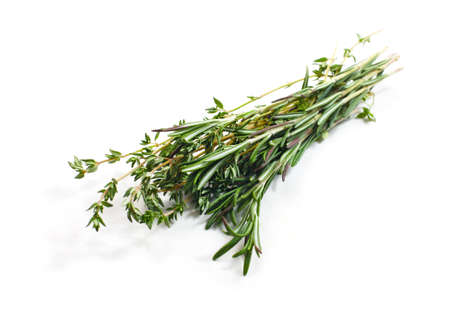 Food ingredients - bouquet garni isolated over white background