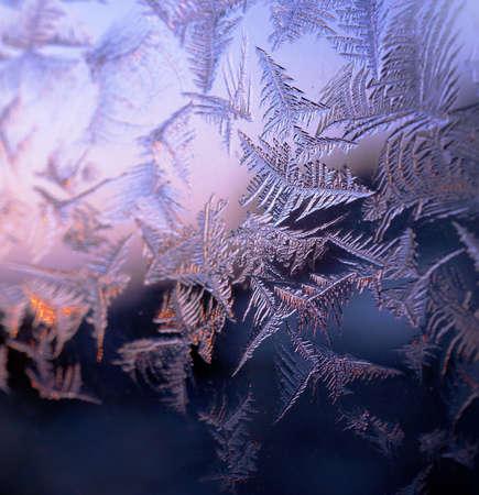 Hiver vitre givrée, la texture naturelle de la nature Banque d'images