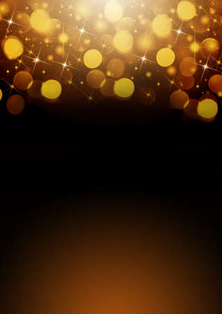 Christmas holiday, golden  light  flashes background for design Stock Photo