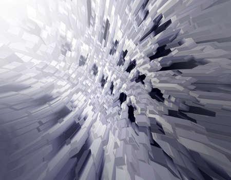 Abstract black and white 3d rendered illustrtion background for design