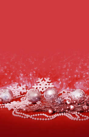 Christmas decor for design xmas cards, banners, pages and site Standard-Bild