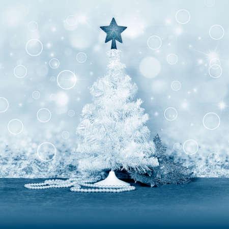 Christmas tree and decor for design xmas cards