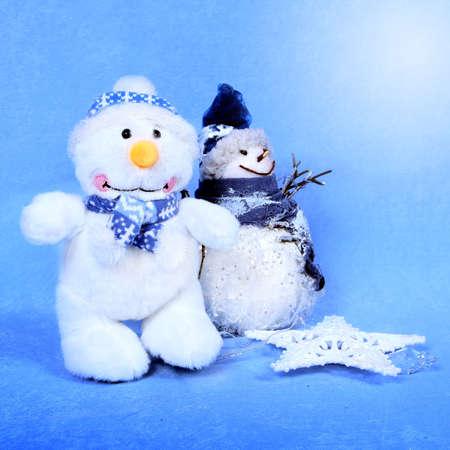 Christmas snowman for design xmas cards Stock Photo
