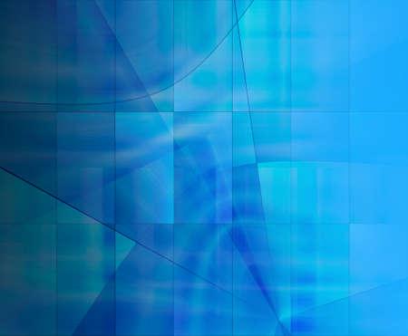Abstract 3d blue rendered illustration background for design