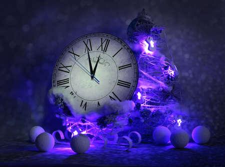 New years decorations Standard-Bild