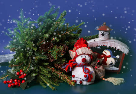 Christmas decorations for winter holidays