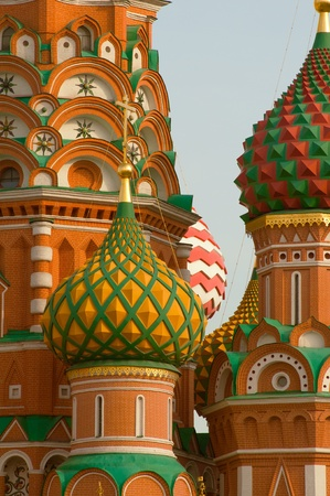 Moscow Saint Basils Cathedral cupola close up photo
