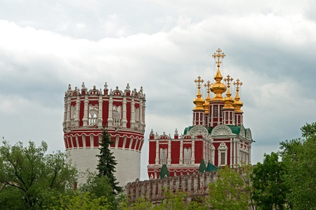 assumption: Nikolskaya tower and church of the Assumption of the Blessed Virgin Mary in the Novodevichy Monastery