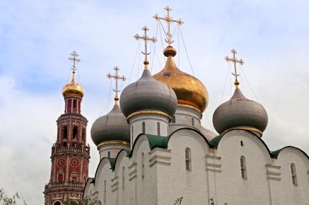 octogonal: Convento Novodevichy - Catedral de Nuestra Se�ora de Smolensk y campanario octogonal