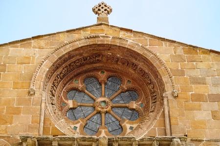 window church: Chiesa finestra a Soria Archivio Fotografico