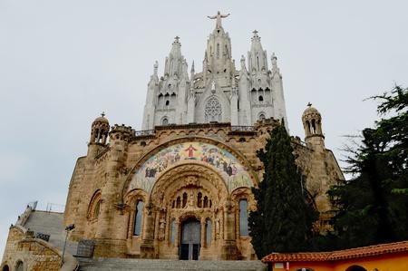 tibidabo: tibidabo catedral barcelona Stock Photo