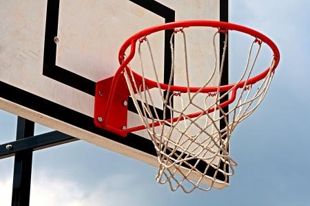 backboard: basketball hoop with backboard Stock Photo