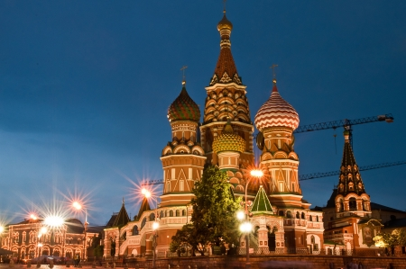 St Basils Cathedral at night photo