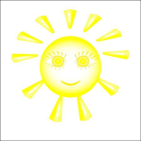 cilia: Vector illustration of the simple stylized sun figure