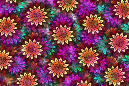 bright multicolor floral abstract pattern illustration illustration