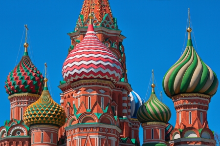 st basil s cathedral: Moscow, Russia  Cupola Of The St basil s Cathedral Stock Photo