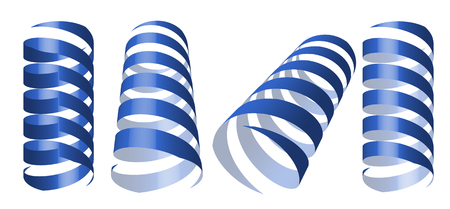 blue swirl ribbons vector illustration Vector