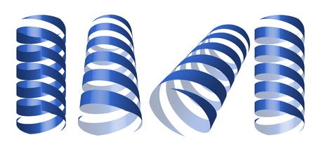 blue swirl: blue swirl ribbons vector illustration Illustration