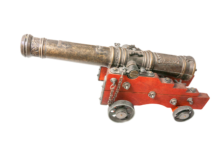 toy cannon isolated on white background photo