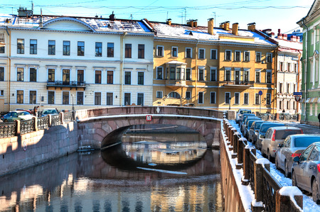 View on Winter Canal St Petersburg, Russia photo