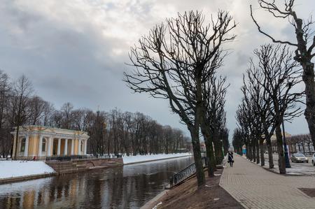 river bank: Moyka river bank, St Petersburg, Russia