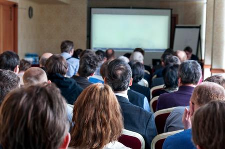 Leute sitzen hinten an der Business-Konferenz Standard-Bild - 28231427