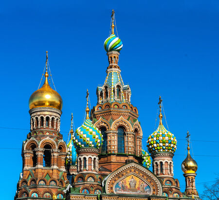 Cupola of the Church of the Savior on Blood, St Petersburg  photo