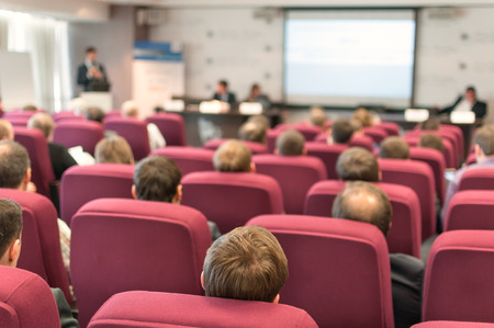 people sitting rear at the business conference Stock Photo - 28390449
